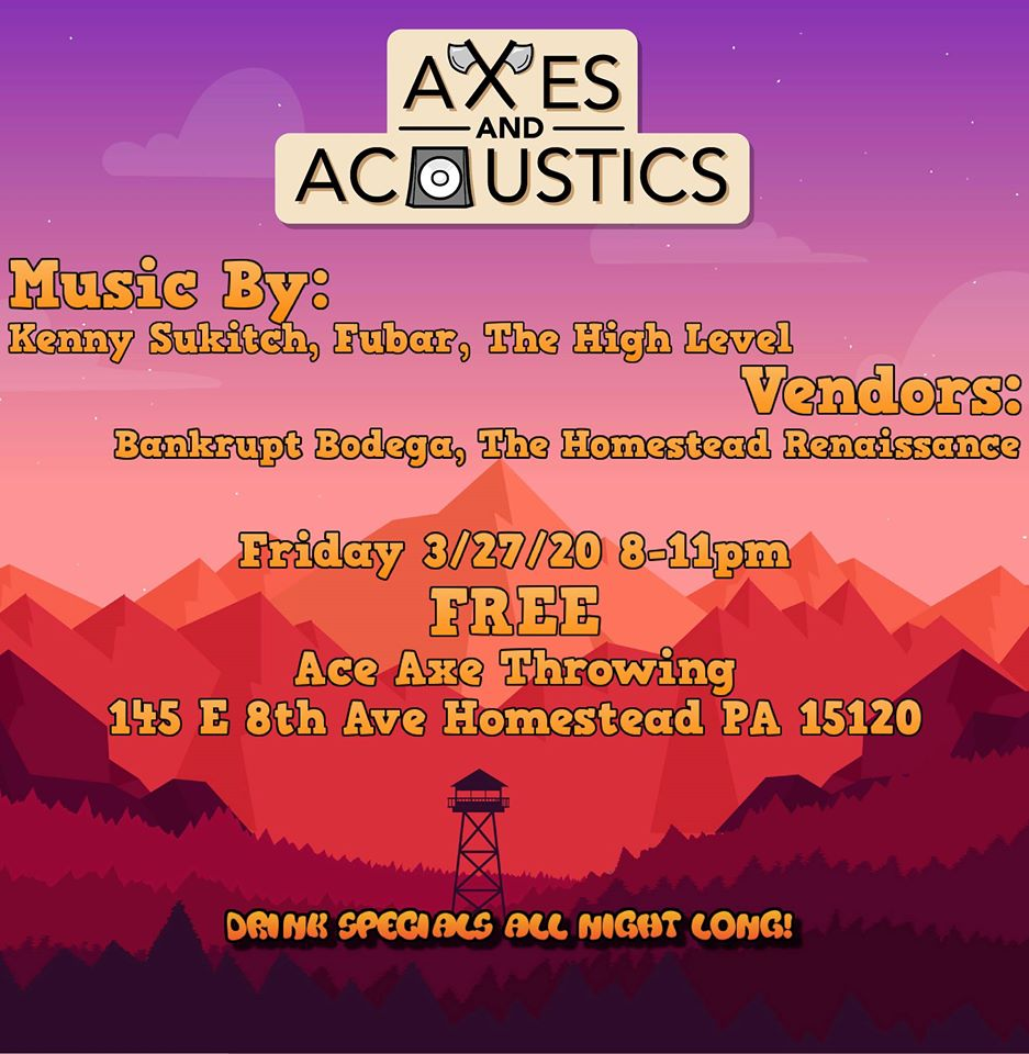 Axes & Acoustics Music Flyer